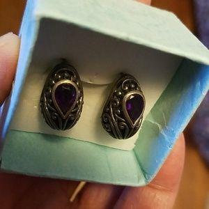Jewelry - Genuine Amethyst Earrings